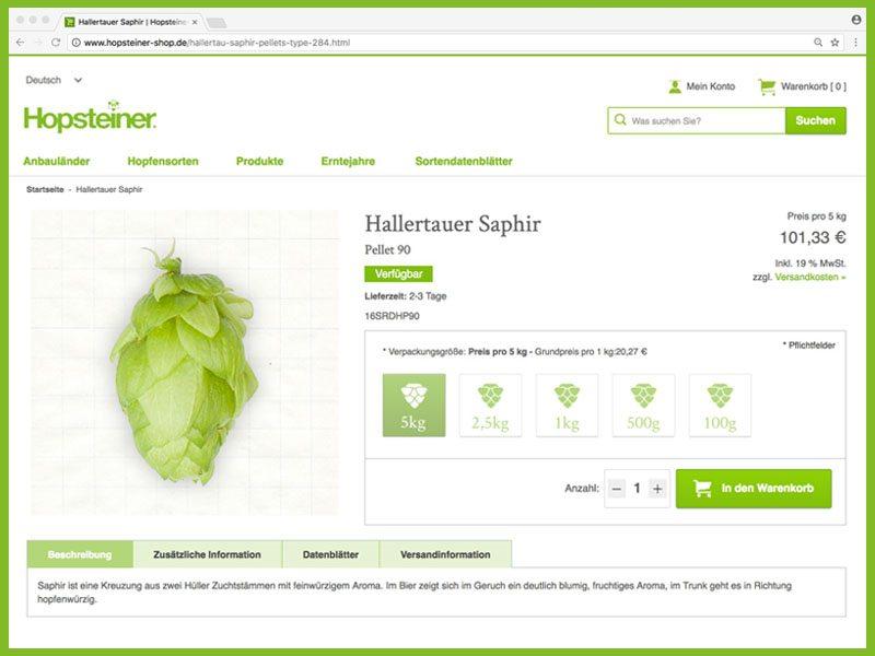 Hopsteiner Online-Shop