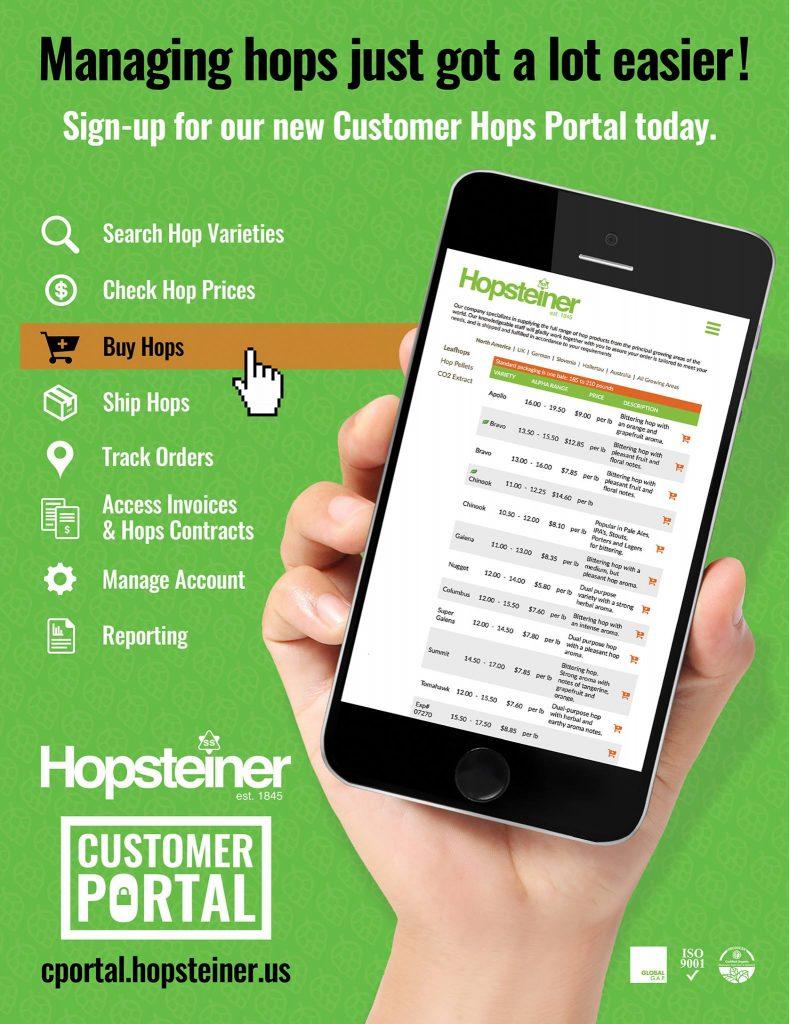 Hopsteiner Customer Portal